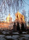 Zimy katedra obraz stock
