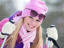 Zimy kobieta Zdjęcia Royalty Free