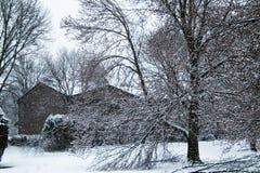 Zimy kraina cudów na wiośnie Obrazy Stock