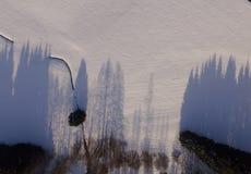 Zimy krajobrazowa antena Zdjęcia Stock