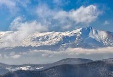 Zimy krajobrazowa góra Obrazy Royalty Free