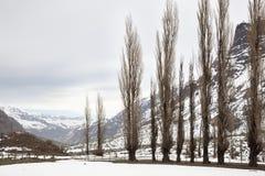 Zimy Krajobrazowa góra Zdjęcie Stock