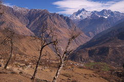 Zimy Kuari przepustki krajobraz Obrazy Stock