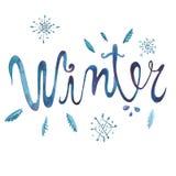 Zimy literowania obraz na białym tle ilustracja wektor
