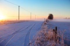 Zimy mgła zdjęcie stock