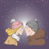Zimy miłość Zdjęcie Royalty Free
