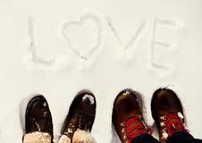 Zimy miłość Obrazy Stock