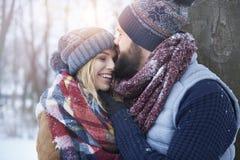 Zimy miłość Obraz Stock