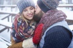 Zimy miłość Obraz Royalty Free