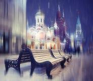 Zimy miasta krajobraz Obrazy Stock