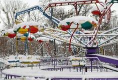 Zimy miasta park Obraz Royalty Free