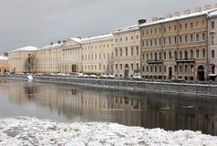 Zimy miasteczko fotografia stock
