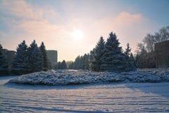 Zimy miasteczko Obraz Royalty Free