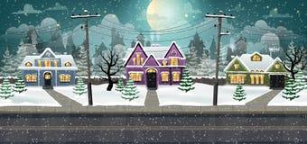 Zimy miasto royalty ilustracja