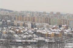 Zimy miasto Fotografia Royalty Free