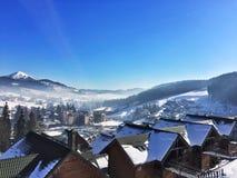 Zimy miasto Zdjęcia Stock