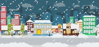 Zimy miasto Obrazy Stock