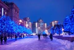 Zimy miastowa iluminacja Zdjęcie Stock
