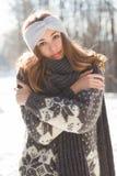 Zimy mody piękno zdjęcie royalty free