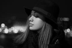 Zimy mody piękno fotografia royalty free