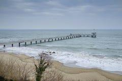 Zimy mola seascape Zdjęcie Stock