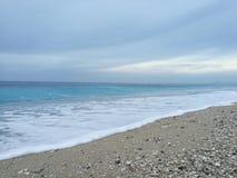Zimy morza widok obrazy royalty free