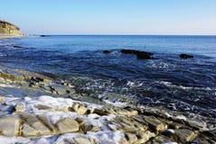 Zimy morze Zdjęcia Stock