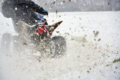Zimy motocross Zdjęcia Stock