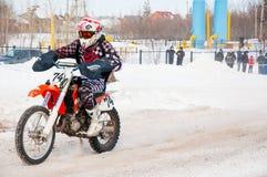Zimy Motocross rywalizacje wśród juniorów Fotografia Royalty Free