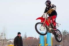 Zimy Motocross rywalizacje wśród juniorów Zdjęcia Stock