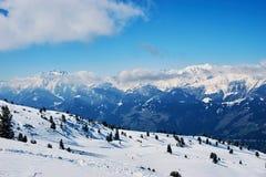 Zimy narty reasort Zdjęcie Stock