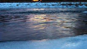 Zimy natury zmierzch Illinois zdjęcie wideo