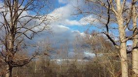 2 zimy nieba Zdjęcie Royalty Free