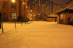 Zimy noc Obraz Stock