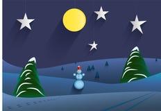 Zimy noc przy teatrem Obrazy Stock
