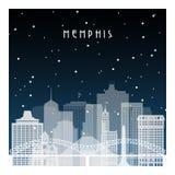 Zimy noc w Memphis royalty ilustracja