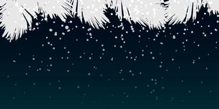 Zimy nocy tła projekt royalty ilustracja