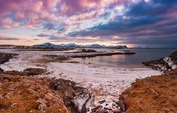 Zimy Norwegia jezioro Obraz Stock