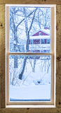 Zimy okno Obraz Royalty Free