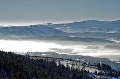 Zimy panorama od Strbske Pleso Zdjęcie Royalty Free