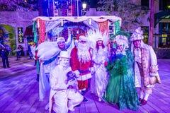 Zimy parq przedstawienie w Linq Las Vegas Obraz Stock
