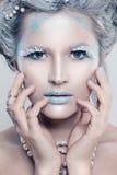 Zimy piękna kobiety mody model piękna dziewczyna Obrazy Royalty Free