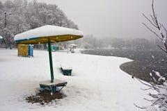 Zimy plaża 3 Zdjęcie Stock