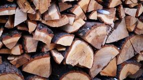 Zimy pożarniczy drewno Obrazy Stock