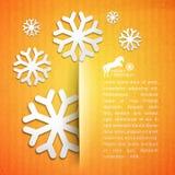 Zimy pocztówka. Zdjęcie Stock