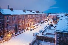 Zimy podwórze w Glasgow Obraz Royalty Free