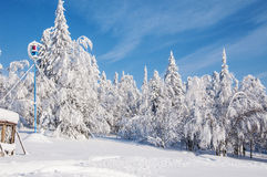 Zimy pogodowa stacja obraz stock