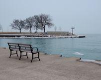 Zimy popołudnie przy Belmont schronieniem Obrazy Stock