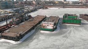 Zimy pozycja logistycznie statki, powietrzna ekranizacja zbiory