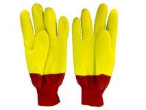 Zimy pracy rękawiczki Obrazy Royalty Free
